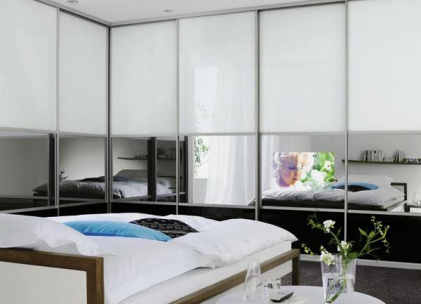 угловые шкафы купе в спальню дизайн фото 5