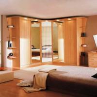 угловые шкафы купе в спальню дизайн фото 7