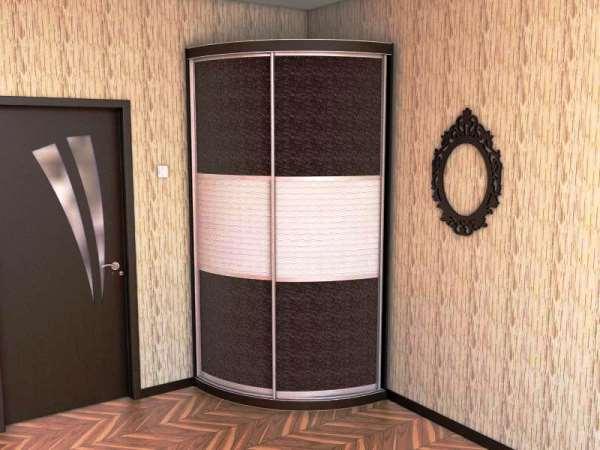 угловые шкафы купе в маленькую спальню фото