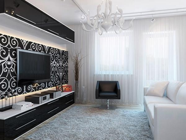 дизайн интерьера маленькой гостиной фото 8