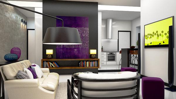 дизайн квартиры студии фото 2