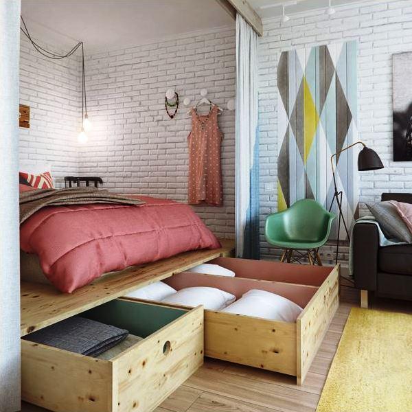 дизайн квартиры студии фото 7