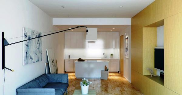 как обставить квартиру студию фото 24 квадратов