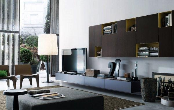 модульные стенки в гостиную современные фото