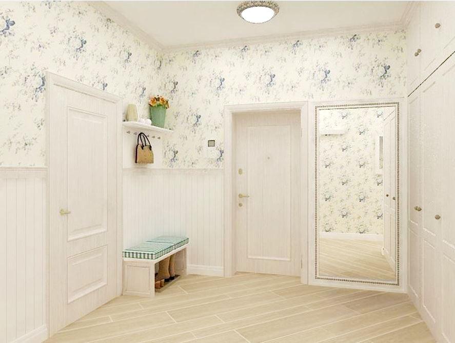 светлые обои в коридор фото в квартире