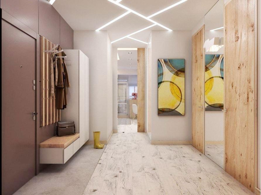 жидкие обои в коридоре в интерьере фото