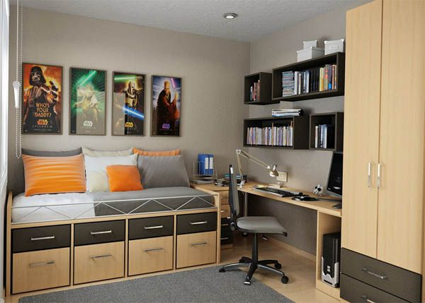 оформление комнаты для подростка мальчика фото