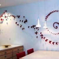 бумажные бабочки на стене своими руками фото 12