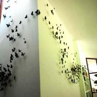 бумажные бабочки на стене своими руками фото 14