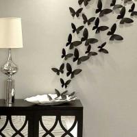 бумажные бабочки на стене своими руками фото 15