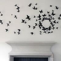 бумажные бабочки на стене своими руками фото 16