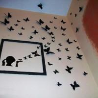 бумажные бабочки на стене своими руками фото 19