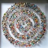 бумажные бабочки на стене своими руками фото 22