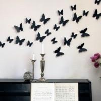 бумажные бабочки на стене своими руками фото 27