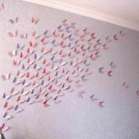 бумажные бабочки на стене своими руками фото 28