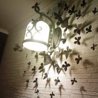 бумажные бабочки на стене своими руками фото 30
