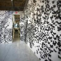 бумажные бабочки на стене своими руками фото 6