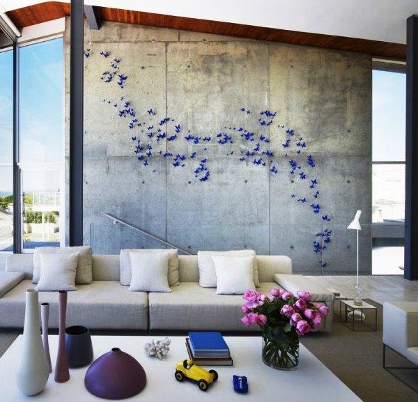 декор стен бабочками своими руками фото