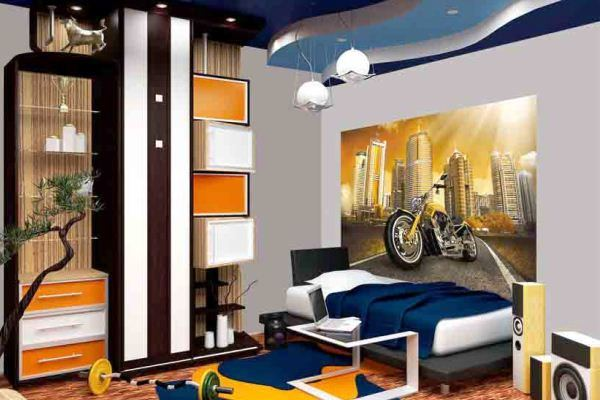 дизайн комнаты для подростка мальчика с фотообоями