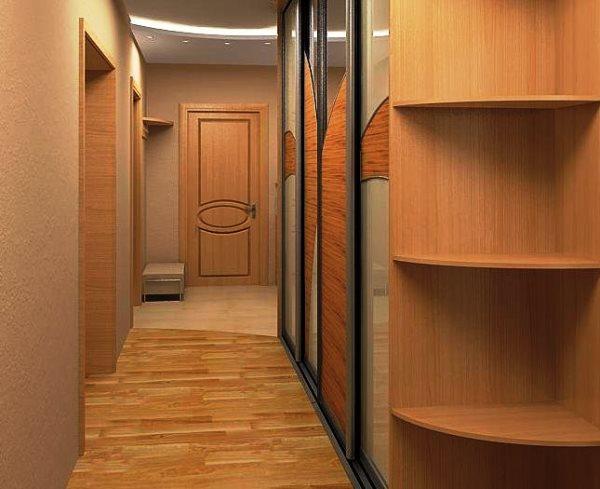 длинный шкаф купе в коридор фото