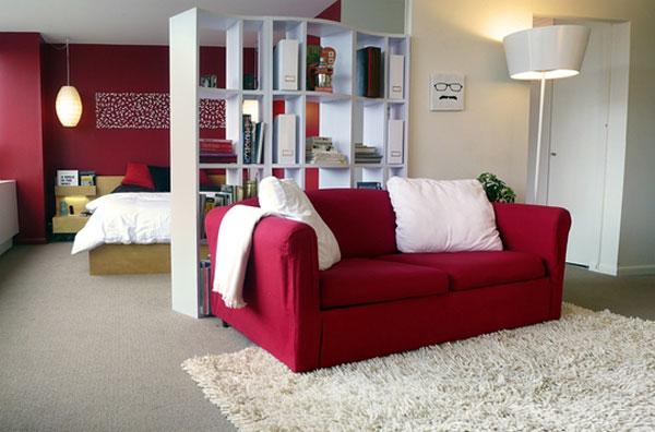 интерьер однокомнатной квартиры студии фото