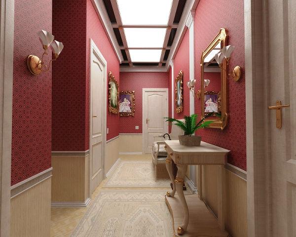 обои для коридора комбинированные дизайн фото 2