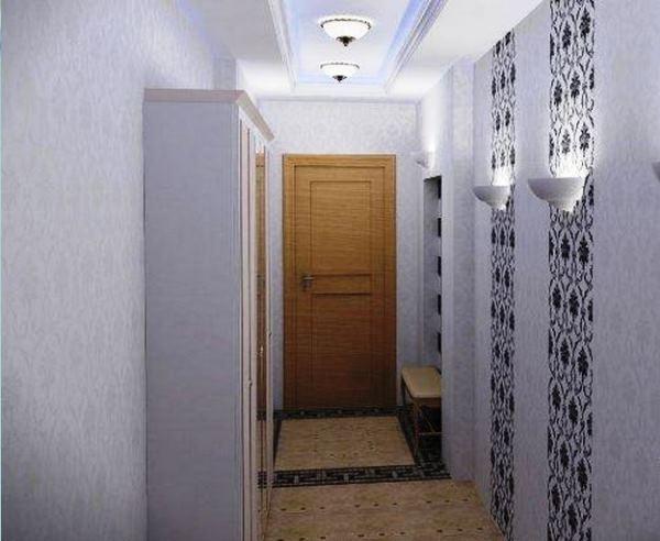 обои для коридора комбинированные дизайн фото