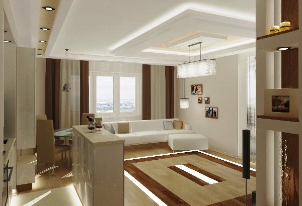 оформление гостиной комнаты фото в современном стиле