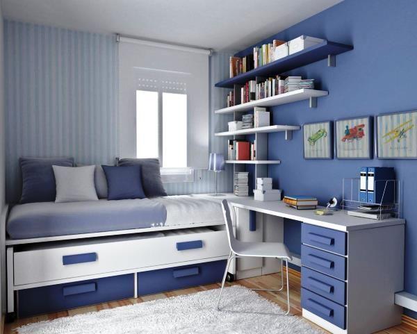 подростковая комната для мальчика фото