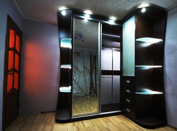 шкаф-купе в коридоре дизайн фото