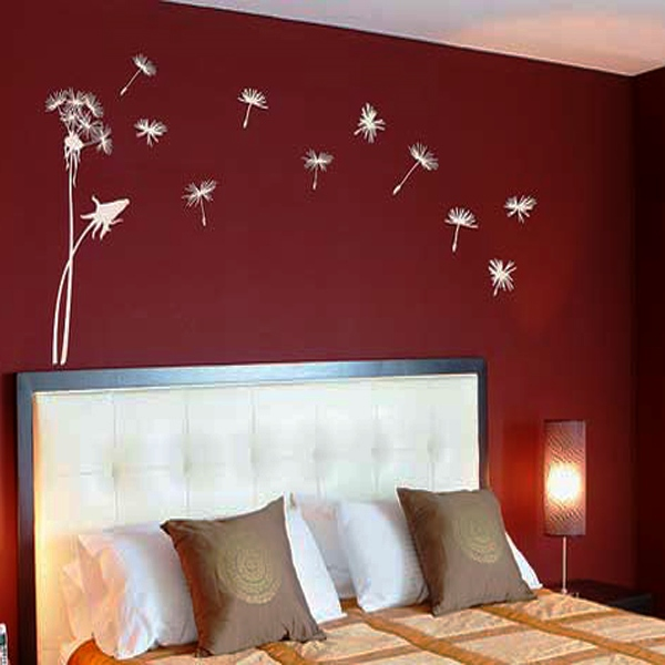 трафарет цветов на стену фото 10