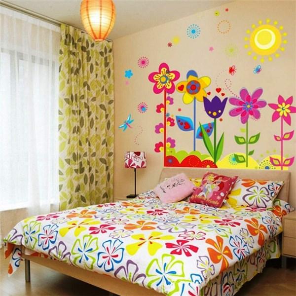 трафарет цветов на стену фото 11