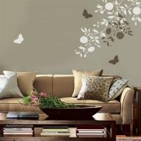 трафарет цветов на стену фото 18