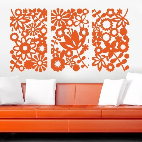 трафарет цветов на стену фото 2