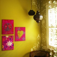 трафарет цветов на стену фото 26