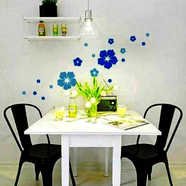 трафарет цветов на стену фото 6