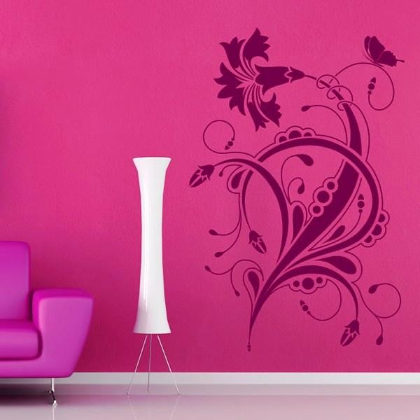 трафарет цветов на стену фото 7