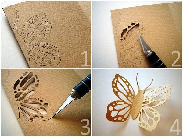 трафареты бабочек на стену из бумаги фото