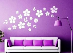 трафареты цветов на стену