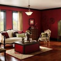 бордовый цвет в интерьере фото 35