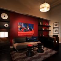 бордовый цвет в интерьере фото 38