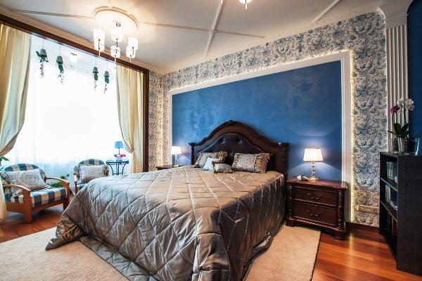 молдинг в спальне фото
