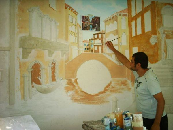настенная живопись водяными красками по сырой штукатурке