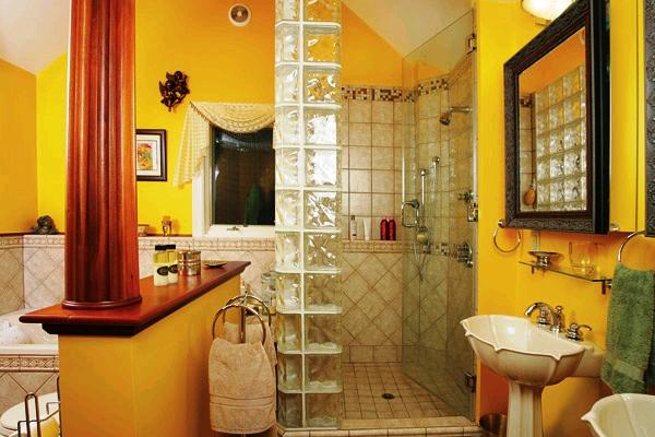 сочетание цветов с желтым в интерьере фото 12