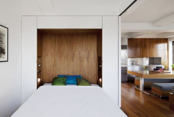 дизайн однокомнатной квартиры с нишей фото