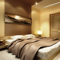 спальня в бежевых тонах фото 14