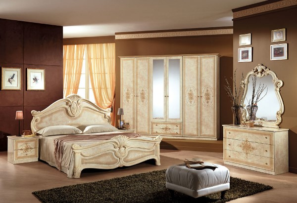 спальня в коричнево бежевых тонах фото