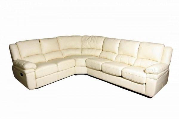 белый кожаный угловой диван фото