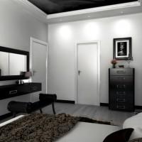 дизайн комнаты в черно белых тонах фото 13