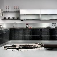 дизайн комнаты в черно белых тонах фото 15